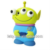 Blue Disney 3D 3 Eyes Toy Story Alien Movable Eye Hard Case Cover For iPhone4/4S