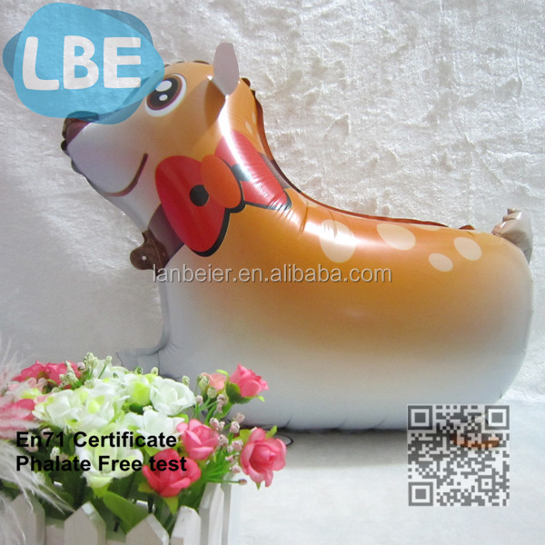 Walking pet animal cartoon dog shaped foil balloon