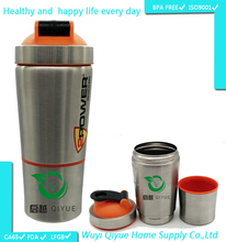 600ml Shake protein water bottle, shaker bottle, customized water bottle