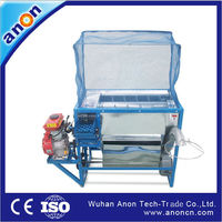 ANON Automatic Multi Functional home used automatic farm High Capacity Gasoline rice threshing machine