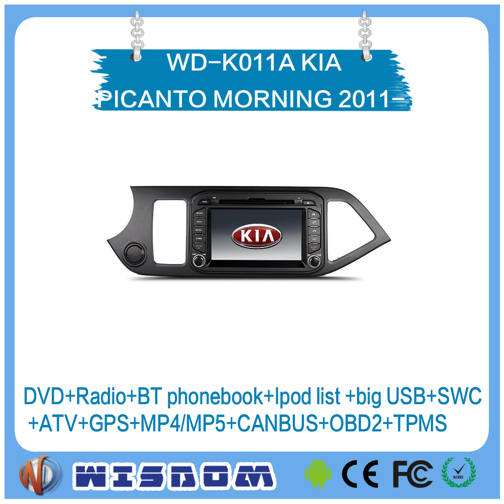 Alibab shenzhen Factory android car radio for KIA PICANTO MORNING 2011 2012 2013 2014 2015 2016 multimedia dvd player wifi swc