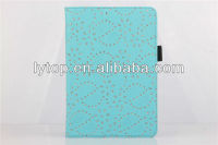 for iPad Mini Bling diamond studded Leather Stand Case 2014 newest