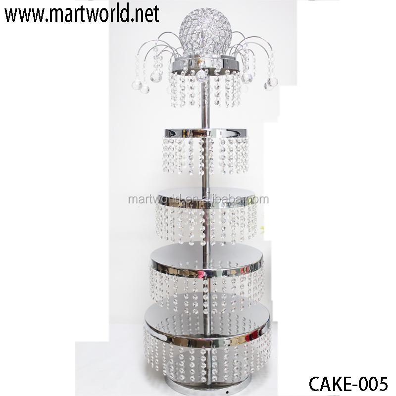 Silver Crystal Wedding Cake Stand Decorative Cake Stand For Wedding Cake For