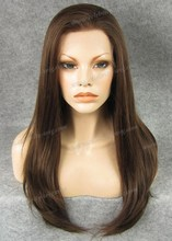 24inch Long Straight Synthetic Lace Front Wig luxurious For Celebrity Wig Beautiful Woman