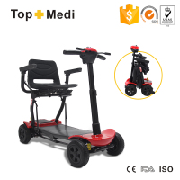 Lightweight Portable Folding Electric wheelchair scooter/remote control folding disabled handicapped mobility scooter