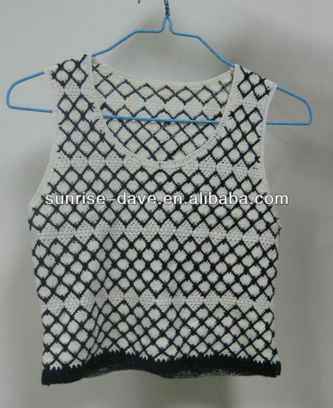 crochet knitted lady's vest