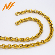 hardware bag accessories thick curb gold plated metal oval shape chain
