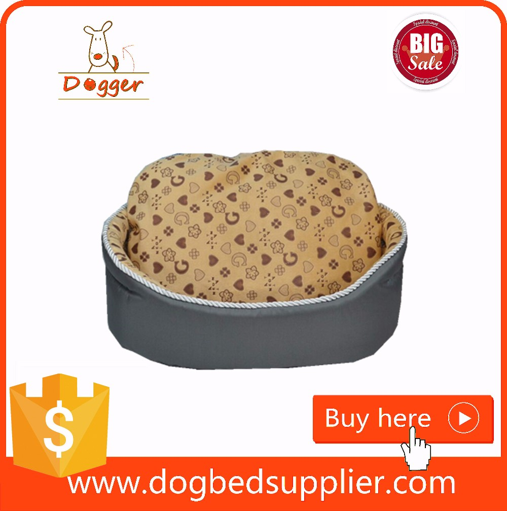 Soft Plush Pet Cushion Crate Bed Removable Insert Pillow Dog Beds with Removable Cushion