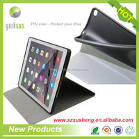 plastic + leather smart cover for iPad air2