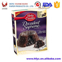 Frozen chocolate lave cake packaging