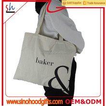 100% cotton fabric foldable shopping bag