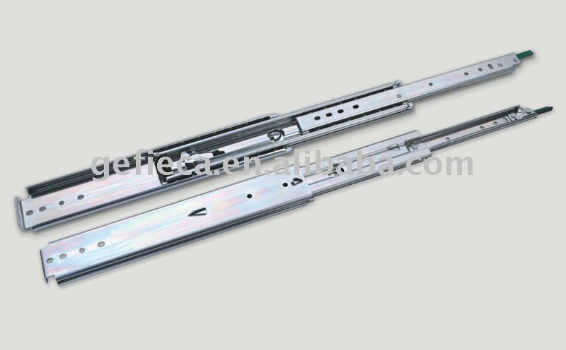 heavy duty telescopic drawer sliding rails with lock mechanism