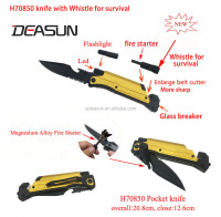 H70850 Led survival knife with fire starter