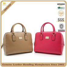 China wholesale leather bag manufacturer hot sale genuine leather handbag ladies