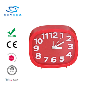 Oval Shape Snooze Alarm clock with 3D index number in Plastic Case