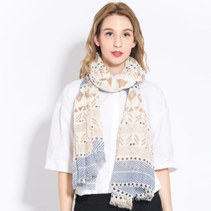 Sweden Geometry Pattern Hijab Scarf Dubai Shawl Scarf Wholesale For Scarf Distributor