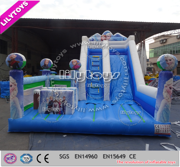 Famous cartoon pattern kids slide inflatable ALI-WS008