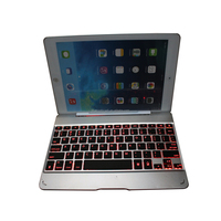 2016 new backlist bluetooth keyboard Ultra Slim Bluetooth Wireless Aluminum Keyboard Case Cover for iPad 2, 3 and 4
