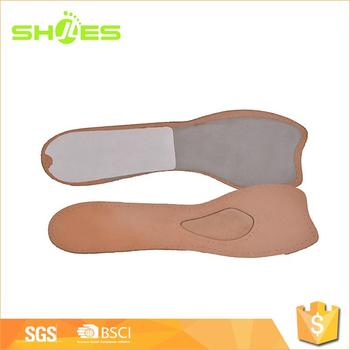 Comfortable Pain Relief Absorb Sweat Leather Insole