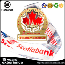Brass material shiny gold cut out star reward ottawa marathon achievement mounting cups gold bronze medals