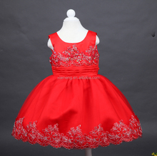 fancy flower girls dress brial Christmas on sale kids red wedding dresses