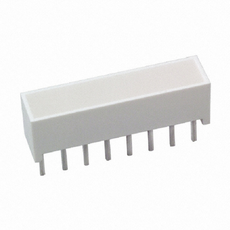 LED LT BAR 19.05X3.81MM SGL YLW LEDs - Circuit Board Indicators, Arrays, Light Bars, Bar Graphs HLMP-2450