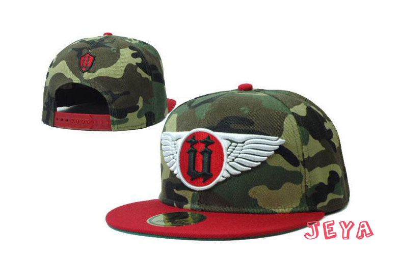 Camo 3d embroidery baseball cap flat bill baseball cap with wings Hip hop cap