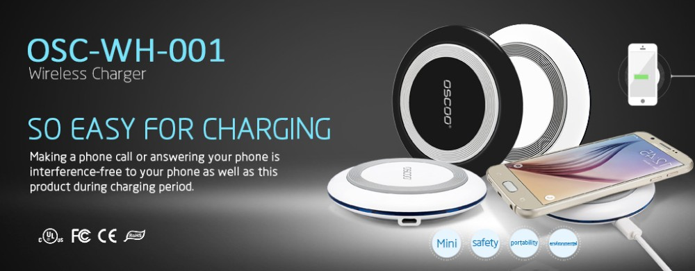 QC2.0 Wireless Charger Universal Qi Wireless Charging Pad for iphone and android