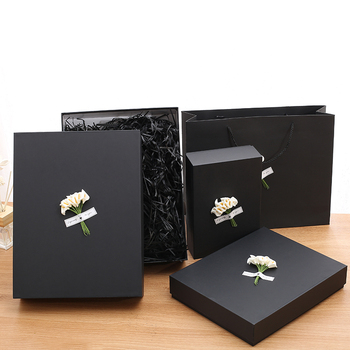 customized cardboard decorative packaging tie box