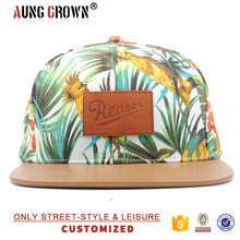 New Style Leather Label floral Snapback Cap/Hat