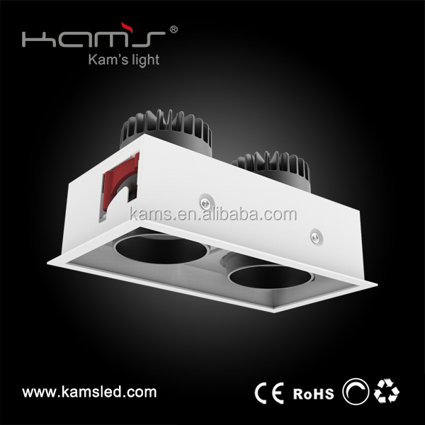 double head grille light with power trim and tilt