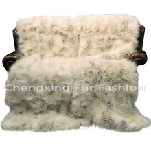 CX-D-122 Living Room Rug , Customized Living Room Fox Fur Rug Shaggy Carpet Rugs