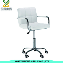 Popular PU Leather Simple Design Bar Stool Bar Chair With Wheels