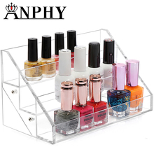ANPHY C63 Quality 3 tiers stand shelf 3 tiers acrylic nail polish display rack