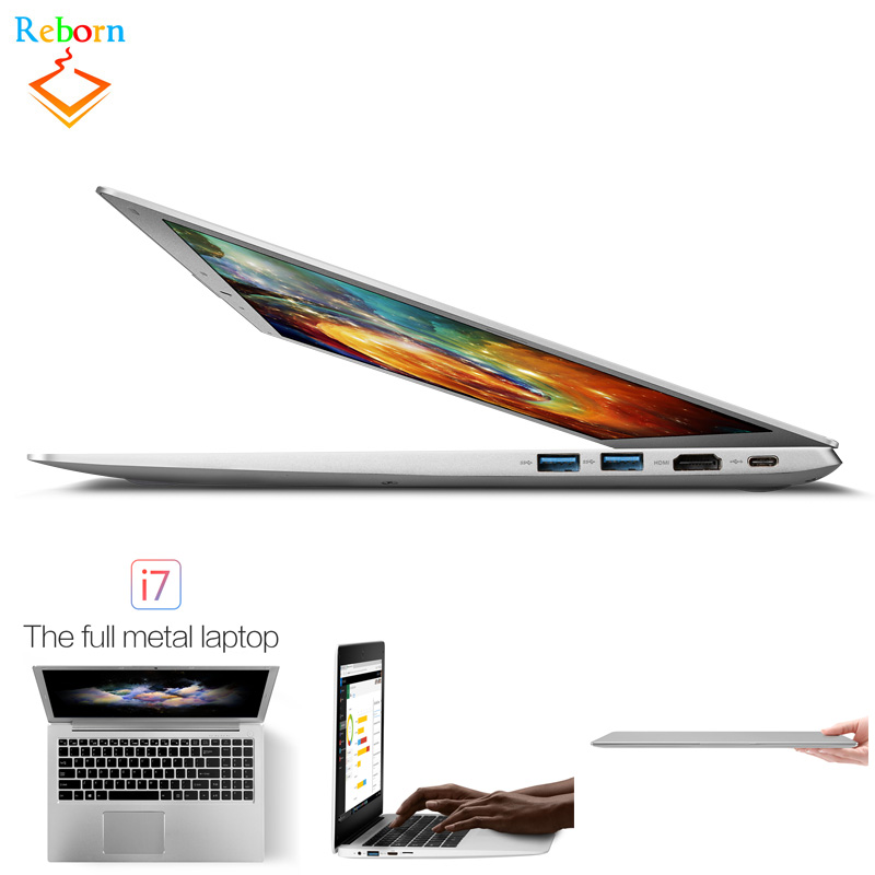 Ultra-thin 15.6 inch 1920*1080 Pixel Intel i7-6500U Windows 10 win10 PC Netbook <strong>Laptop</strong> with metal cover case
