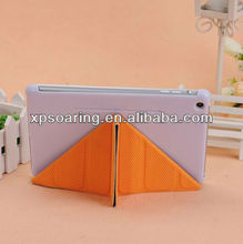 Stand ball skin leather case pouch for mini ipad
