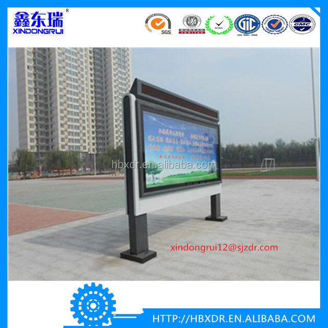 2016 two faces aluminum profiles outdoor advertising scrolling light box