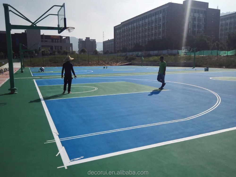 Good quality sport court flooring material acrylic color paint