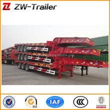 factory price professional 60T 3 axles low bed semi trailer for heavy machinery elevator transport