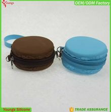 Fashionable zipper silicone coin bag/zipper silicone coin purses/ladies' wallets with cheap price