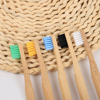 new 100% biodegradable Soft round  bamboo toothbrush for children