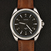 New Models YAZOLE Japan Movt Quartz Brand Watch Stainless Steel Back New Products Branded Mens