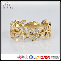 14K 18K Yellow Gold Vintage design Diamond Ring Jewellery 18 Carat Wedding rings