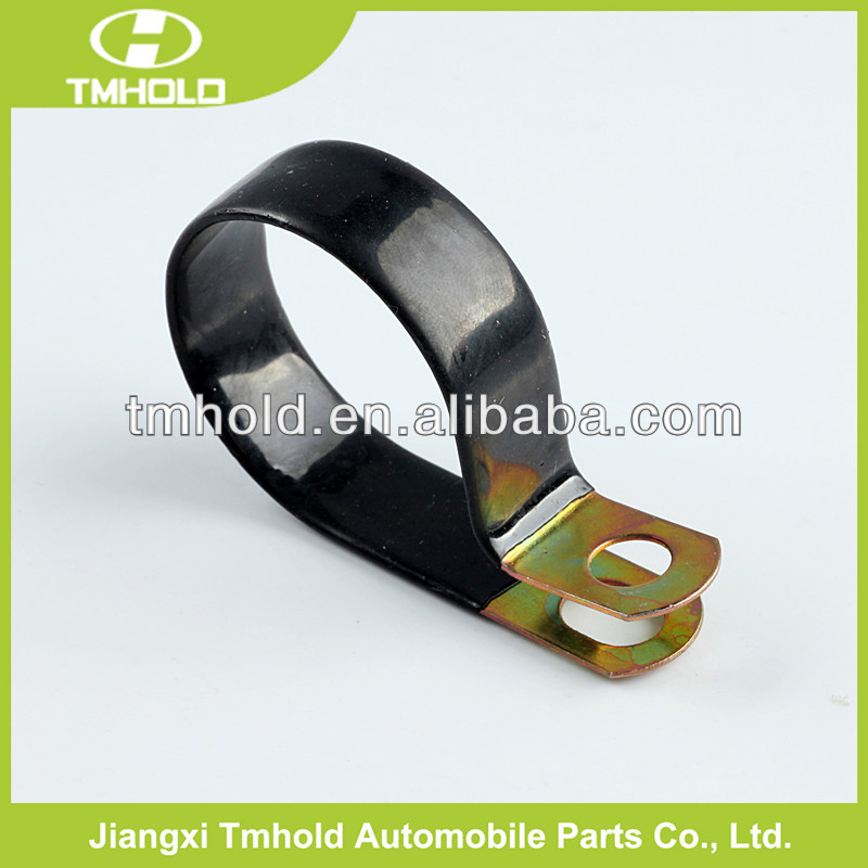 Bandwidth 16mm Galvanized steel fixing pipe clamps/P-clip clamps for Dichromate plated
