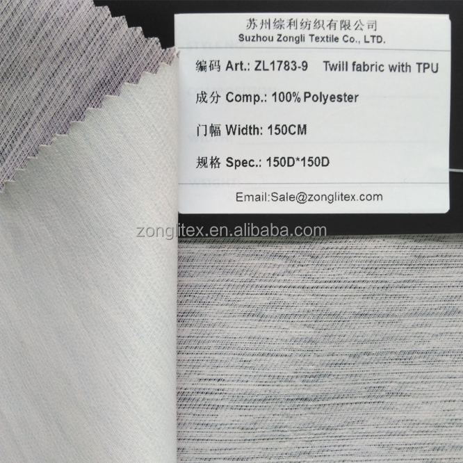 China manufactuer 100% polyester twill shoe upper fabric