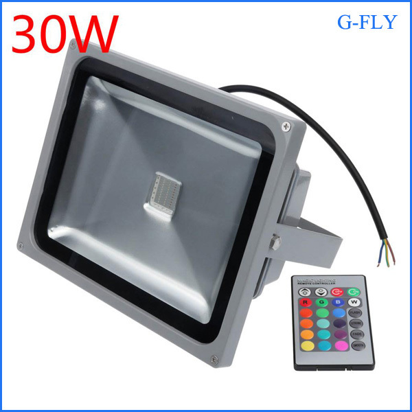 2016 newest outdoor ip65 led flood light garden spot led lighting rgb led flood light 30w