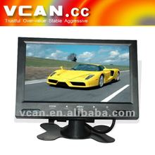 Popular touch button 7 inch tft lcd car tv monitor LED backlight One video input wholesale
