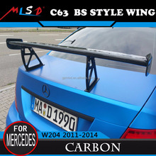 High Quality 100% guarantee fitment MLSD Hot Sale BS style big wing /trunk spoiler for Mercedes-Benz W204 C-class