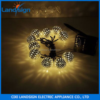 Warm white 10 balls/set Moroccan LED solar string lights led the lamp outdoor Christmas decoration LED lamp solar power