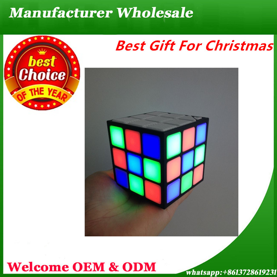 Best Gift Christmas mini bluetooth speaker,waterproof bluetooth speaker tower multimedia car ibastek s10 fm radio LED Light
